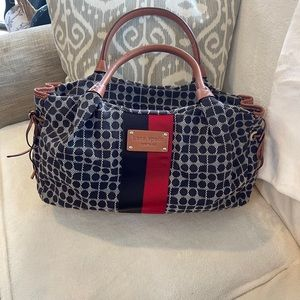 Kate spade black/white spotted design purse